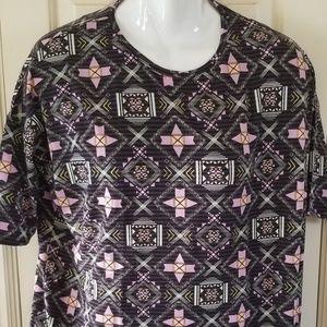 Nwt lularoe irma small shirt/dress aztec black pur